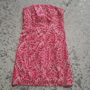 Lilly Pulitzer Franco Strapless Dress Punch Pink